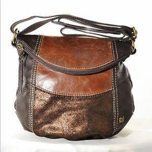 The Sak Deena multi tone brown crossbody bag